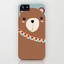 tribal bear iPhone Case