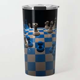 chess fantasy blue Travel Mug