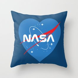 NASA Love Throw Pillow