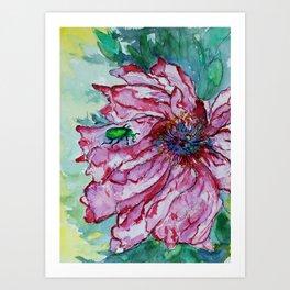 Bugged Flower Art Print