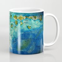 neverland Mugs featuring Neverland by Tiny-firefly Art