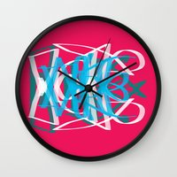 dope Wall Clocks featuring Dope by Wilson Davalos