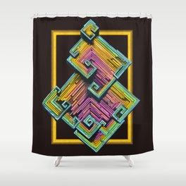 Bismuth Crystal Shower Curtain