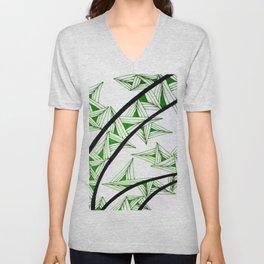 Green Shard Unisex V-Neck
