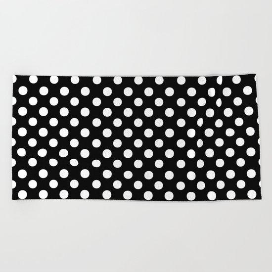 Polka Dots (White/Black) Beach Towel