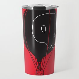 Hot Air Balloon Skull Travel Mug