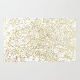 Lille Map Gold Rug