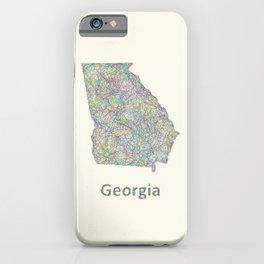Georgia map iPhone Case