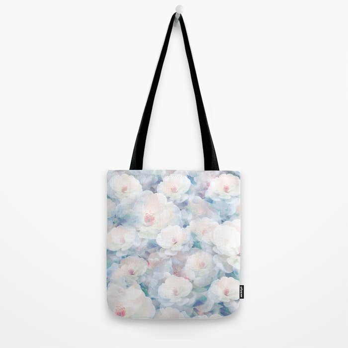 Pastel Flower Field Tote Bag