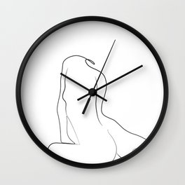 Woman One Line Wall Clock