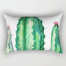 three big cactus Rectangular Pillow