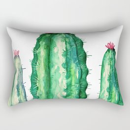 three big cactus Rectangular Pillow