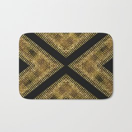 Black Gold | Tribal Geometric Bath Mat