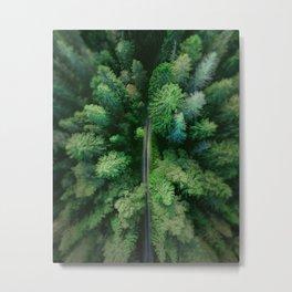 Arial Arboreal Metal Print