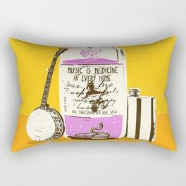 MUSIC IS MEDICINE Rectangular Pillow