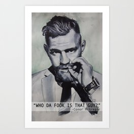 Who da fook Art Print