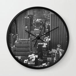 New York Buildings Wall Clock