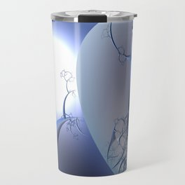 Abstract trees in icy moonlight illusion Travel Mug