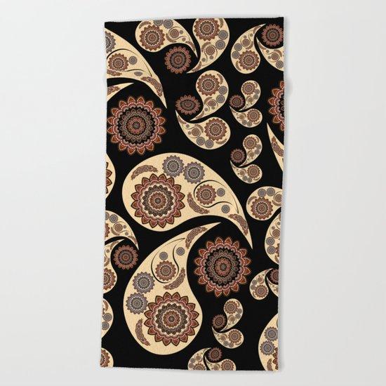 Paisley Pattern Beach Towel