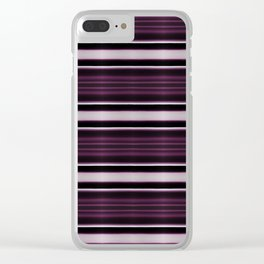 Elegant Bold Purple and Siver Stripes Clear iPhone Case