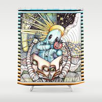 audi Shower Curtains featuring Audi Vide Tace by fINK aRT sTUDIO