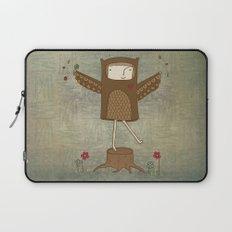 Little Owl Girl Laptop Sleeve