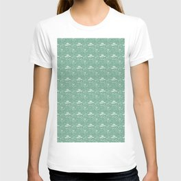 Abstract Doodle on Green T-shirt