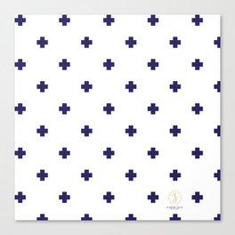 Modern Swiss - Bold Style Cross Plus Sign Canvas Print