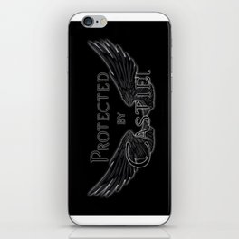 Protected by Castiel Black Wings iPhone Skin