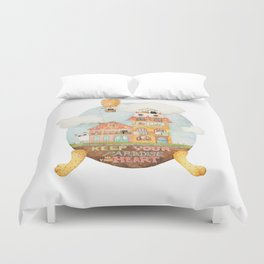 Keep your paradise in your heart Duvet Cover