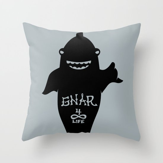 GNARWHAL Throw Pillow