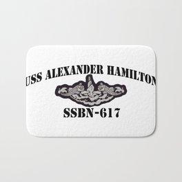 USS ALEXANDER HAMILTON (SSBN-617) BLACK  LETTERS Bath Mat