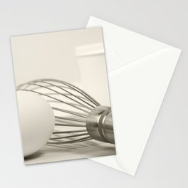 Eggs with Wire Whisk Stationery Cards