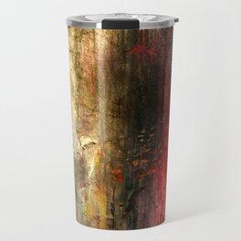 Fall Abstract Acrylic Textured Painting Travel Mug