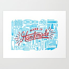 Make Handmade - 2 Color Art Print