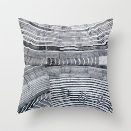 Streetart in Gray Concentric shapes Throw Pillow