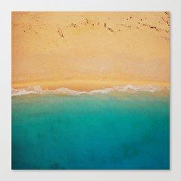 turquoise ocean wave sandy beach Canvas Print