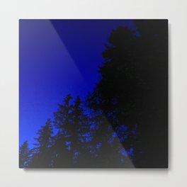 Ominous Dark Blue Nightime Sky Metal Print