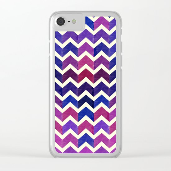 Colorful Chevron Pattern II Clear iPhone Case