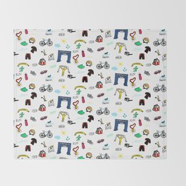 Triathlon Doodles Throw Blanket