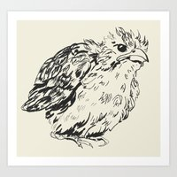 sparrow Art Prints featuring sparrow by dace k