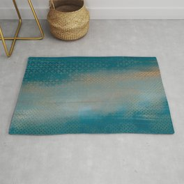 ABUR with Gold on Turquoise Rug
