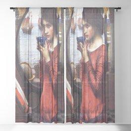 John William Waterhouse's Destiny Sheer Curtain