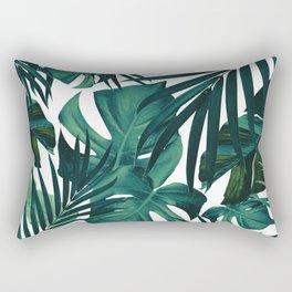 Tropical Jungle Leaves Pattern #1 #tropical #decor #art #society6 Rectangular Pillow