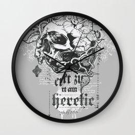 I am Heretic Wall Clock