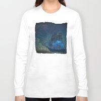 ships Long Sleeve T-shirts featuring Ships and Stars by Amanda Royale