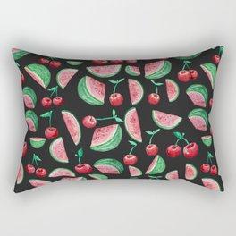 Cherries and Watermelons Rectangular Pillow