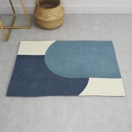 Halfmoon Colorblock - Blue Rug
