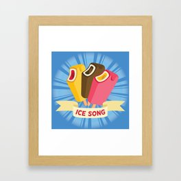 Ice cream song  Framed Art Print