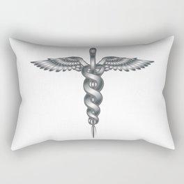 Caduceus Medical Symbol Rectangular Pillow